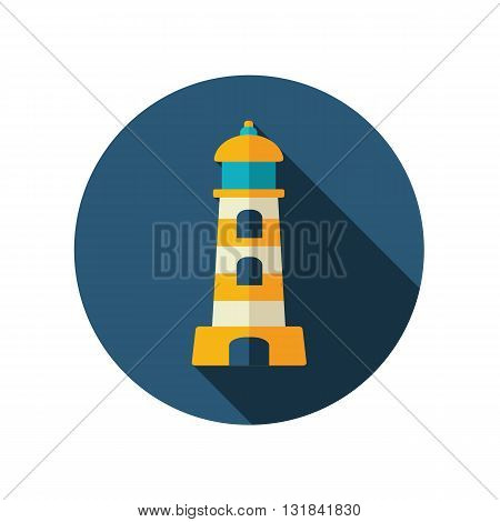 Lighthouse vector flat icon. Beach. Summer. Summertime. Vacation eps 10