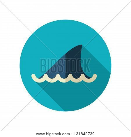Shark fin vector flat icon. Beach. Summer. Summertime. Vacation eps 10