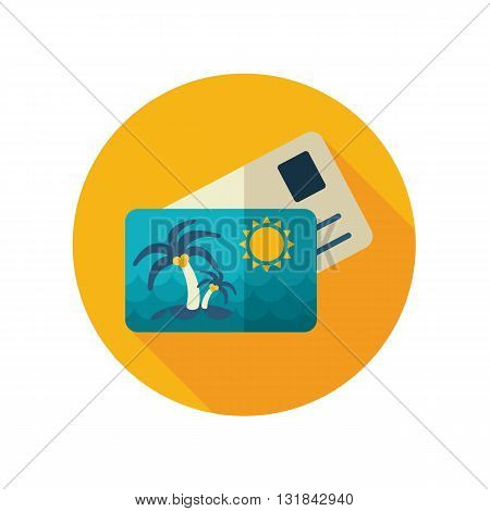 Card with palm vector flat icon. Beach. Summer. Summertime. Vacation eps 10
