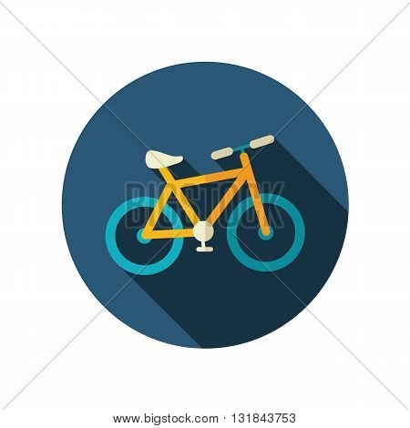Bicycle vector flat icon. Beach. Summer. Summertime. Vacation eps 10
