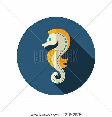Sea Horse vector flat icon. Beach. Summer. Summertime. Vacation eps 10