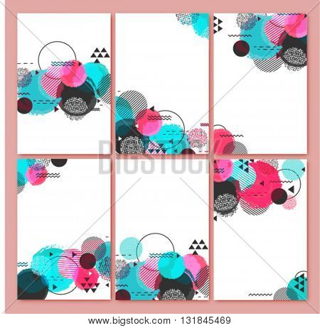 Set of six creative Backgrounds with Abstract Design for Banner, Poster, Card, Invitation, Brochure, Flyer etc.