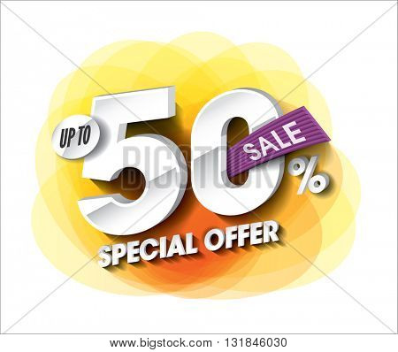 Sale concept with colorful round abstract label banner. sale layout design. Vector illustration