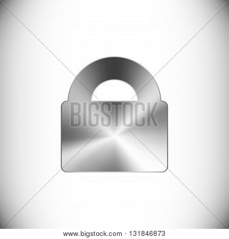 The steel icon representing lock button for web or mobile devices.