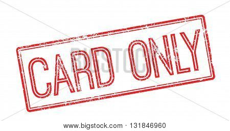 Card Only Red Rubber Stamp On White