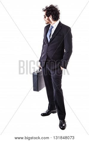 Businessman Looking Back