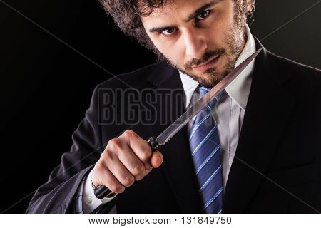 Murder Businessman With Kitchen Knife
