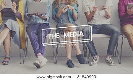 Media Digital Information Internet Television Concept