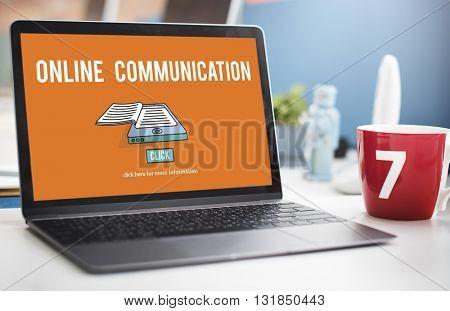 Online Communication Connection Information Concept