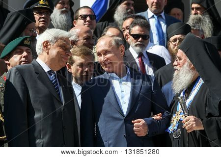 Russian President Vladimir Putin During His Visit To Mount Athos