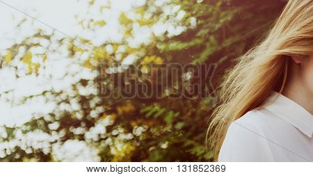Woman Chilling Relax Travel Concept