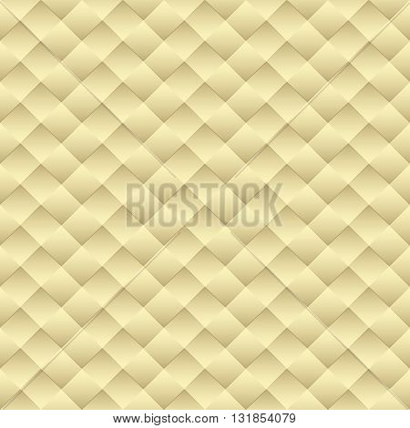 Minimalistic concept modern style wallpaper with geometric seamless pattern yellow background