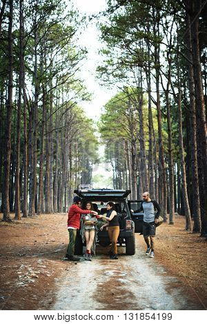 Roadtrip Camping Car Explore Adventure Concept