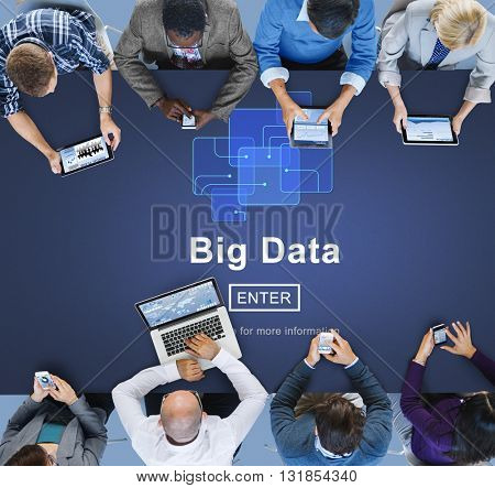Big Data Information Technology Server Cloud Concept