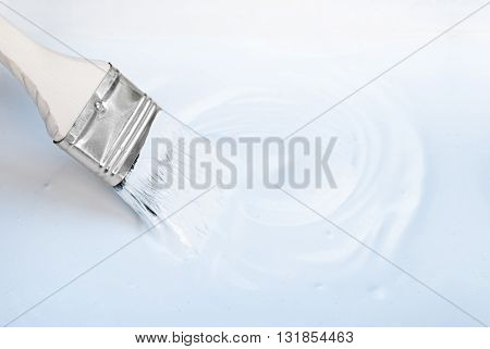 White Background Brush With Empty Blank Space For Text, Copy, Your Word Horizon Frame