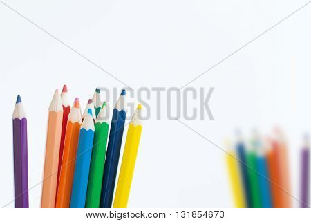 pencil color art concept background empty for text or your copy