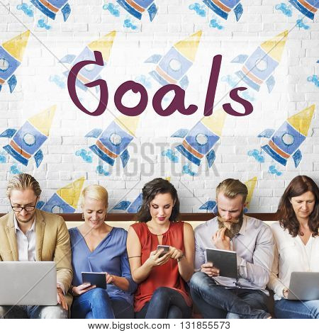 Goals Aim Aspiration Dreams Inspiration Target Concept