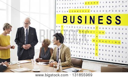 Crossword Puzzle Game Strategy Business Concept