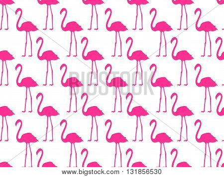 Seamless pattern with pink flamingos seamless flamingo bird pattern. Vector.