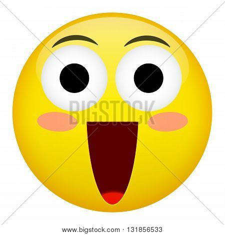 Embarrassment confusion smile laugh emotion. Emoji vector illustration.