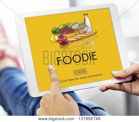 Foodie Nourishment Eat Gourmet Meal Concept