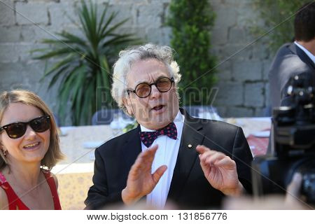 CANNES, FRANCE - MAY 20: George Miller attends the Mayor's lunch given in honour of the media at Place de la Castre during the 69th Cannes Film Festival on May 20, 2016 in Cannes, France.