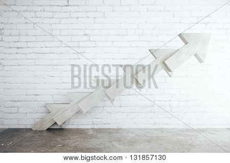 Abstract Concrete Arrow Ladder
