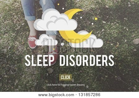 Sleep Disorder Disturbed Insomnia Depression Concept