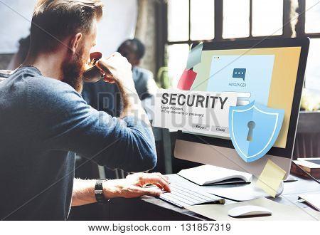 Security System Access Password Data Network Surveillance Concept