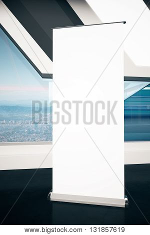 Blank Poster With City View