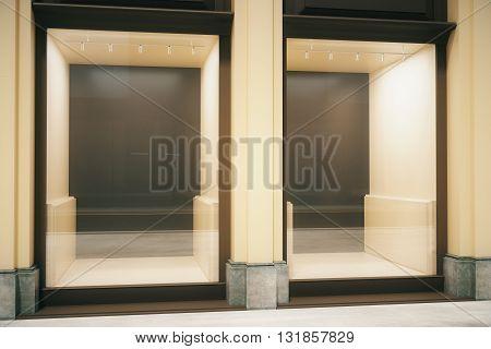 Glass Showcase Closeup