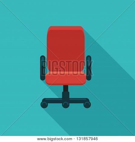 The office chair. Flat vector icon. Symbol