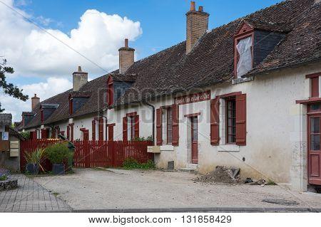 LOIR-ET-CHER FRANCE - MAY 07 2015: Old stone house at Loir-et-Cher France