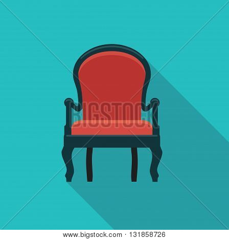 Vector flat icon antique chairs. Stylized illustration
