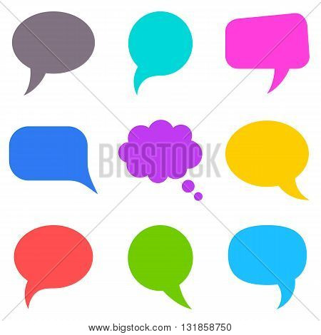 Colorful speech bubbles collection - vector illustration
