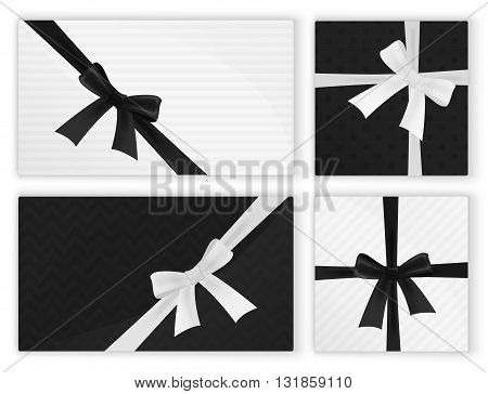 Black white fashion wrapped gift presents Gifts Pack.Top view