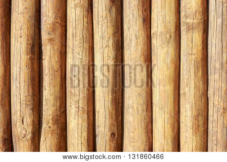 Solid wood backgroung texture of whole logs