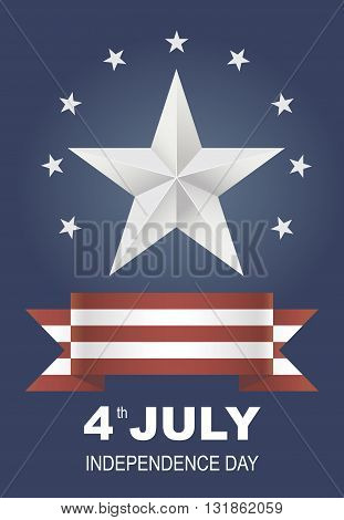 Postcard for Independence Day holiday in America. Card as a symbol of freedom. Vector illustrations to celebrate July 4th. America joy Eps 10.