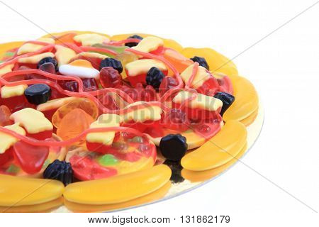 Color Jelly Candies As Pizza