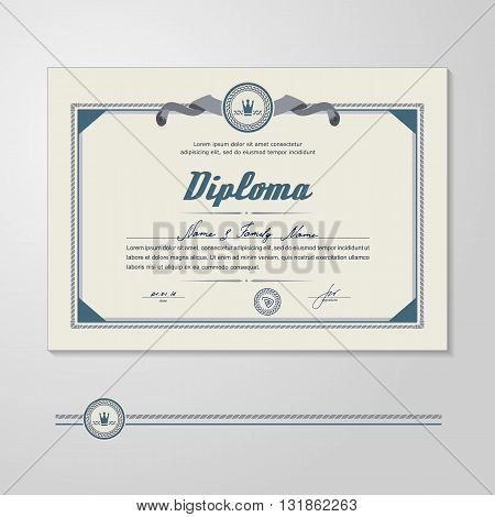 Certificate Diploma - design template. A vector.