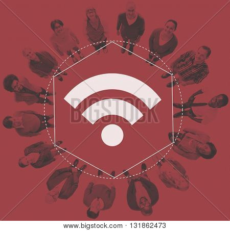 Internet WiFi Network Connection Graphic Concept