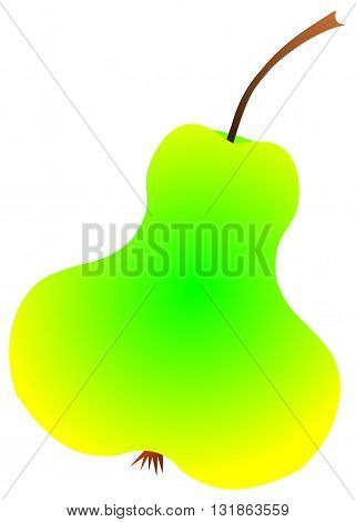 Juicy ripe pear, green and yellow pear,