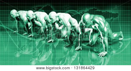 Digital Security Industry through Online Data Art 3D Illustration Render