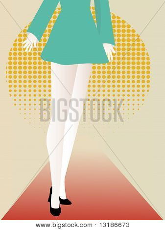 Abstract Female Featuring Lower Body Long Legs Abstract Set