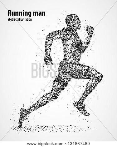 Abstract runner of black circles. Vector illustration.