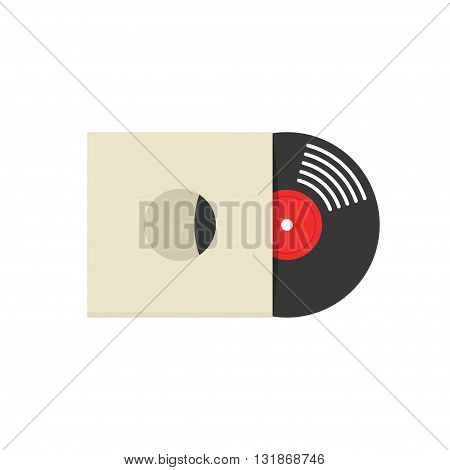 Record album cover vector illustration retro vinyl album cover record sleeve vinyl paper cover flat icon symbol label covering mockup modern design isolated on white background