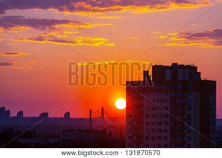 sunset scene in Kiev