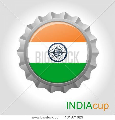 India flag cup