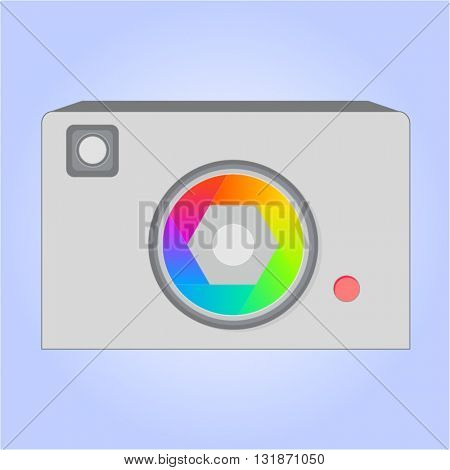 Vector version. Camera icon. Eps 10 illustration
