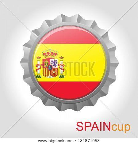 Spain flag cup